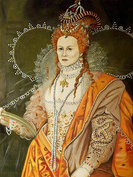 Self Portrait as Queen Elizabeth after Oliver by RB McGrath