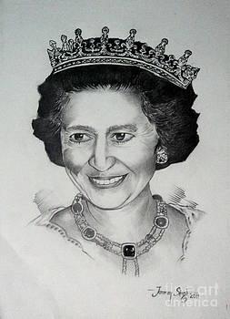 Queen Elizabeth II by Tanmay Singh