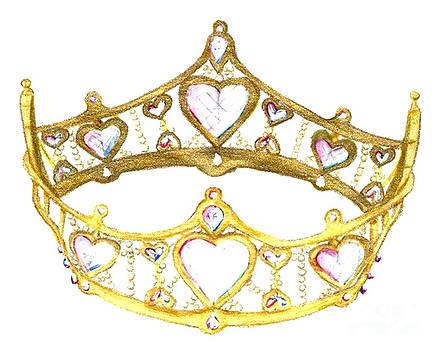 Queen of Hearts Crown Tiara by Kristie Hubler by Kristie Hubler