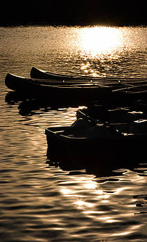 Quiet Waters at Sunset by Donna Haggerty