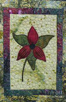 Quilt Block Flower by Sherry Vance