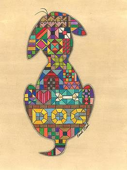 Quilted Dog by Carol Neal