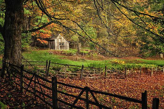 Thomas Schoeller - Quintessential Rustic Shack- A New England Autumn Scenic