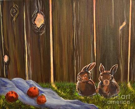 Rabbits Still Life by Kateryna Kurylo