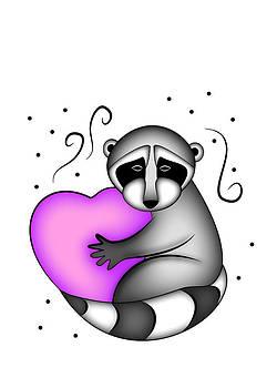 Jeanette K - Raccoon with Heart