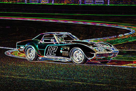 Racing Corvette by Peter Falkner