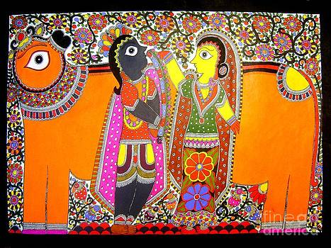 Radha and Krishna by Neeraj kumar Jha