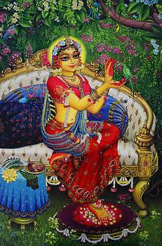 Vrindavan Das - Radha with parrot