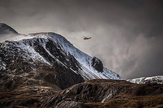 RAF Mountain Rescue in Snowdonia by Christine Smart