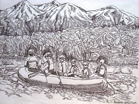 Rafting in Himalayas by Prasida Yerra