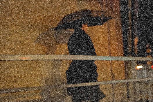 Jenny Rainbow - Rain. Lady in Black. Impressionism