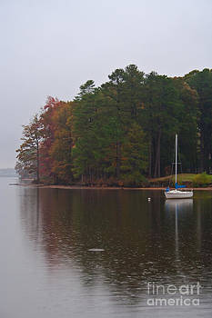 Rain on the lake by John Hassler