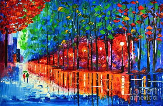 Rain reflection by Mariana Stauffer