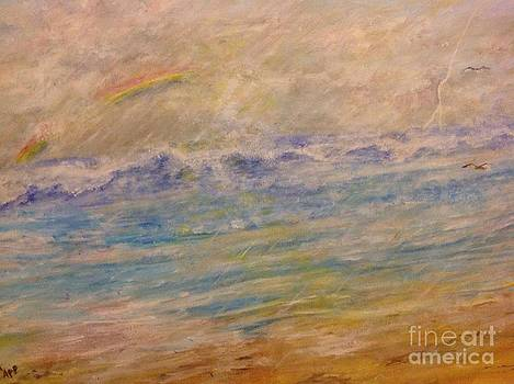 Rain storm  at the beach by Linea App