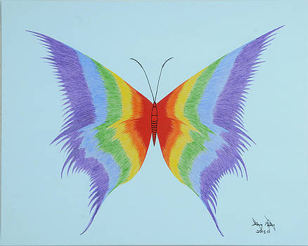 Rainbow Butterfly by Doug Miller