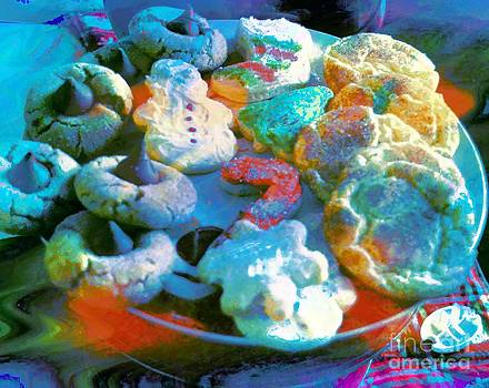 Rainbow Colored Cookies by Kathleen Struckle