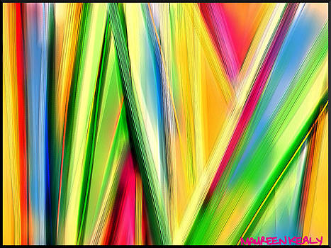 Rainbow Colour Strings by Maureen Kealy
