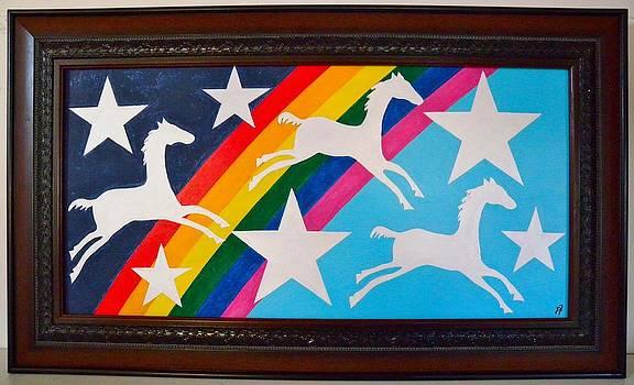 Rainbow Horses  by Paul Ferrara