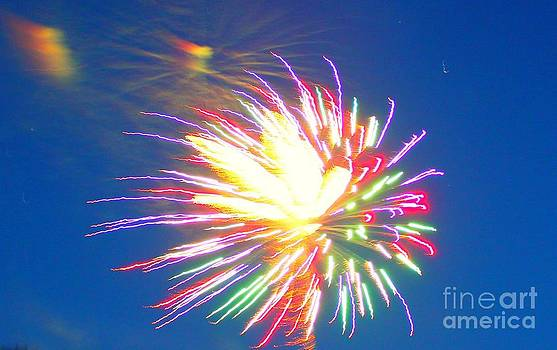 Rainbow Fireworks Celebration Colorful Abstract Image With: Artwork For Sale