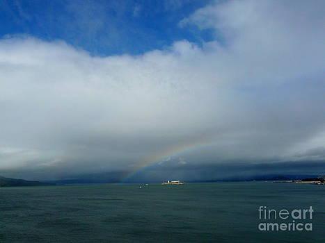 Rainbow over Alcatraz by Avis  Noelle