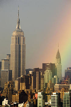 Rainbow over Manhattan by Alina  Oswald
