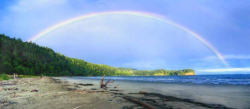 Rainbow Panoramic by Rod Mathis