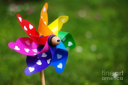 Rainbow - pinwheel by Giuseppe Ridino