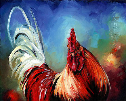 Rainbow Rooster by Kristy Tracy
