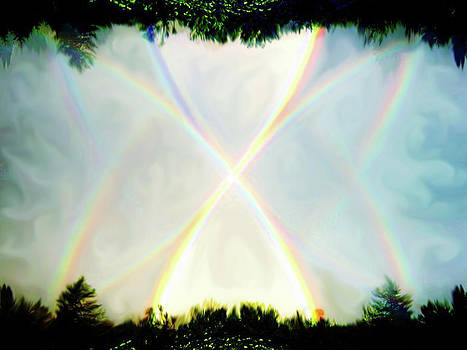 Rainbow X by Mary Burr