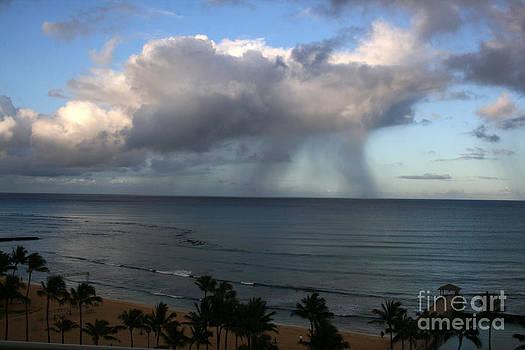 Rainfall On Ocean by Mary Mikawoz