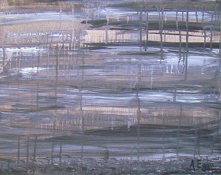Rainy Day Asphalt by Annette Egan