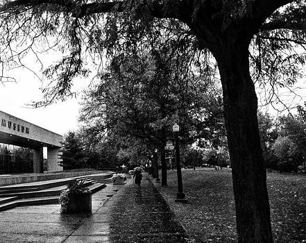 Rainy Grand Rapids Gerald Ford Museum by Toni Martsoukos