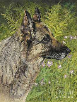 Raisa in the Wild Geraniums by Jymme Golden