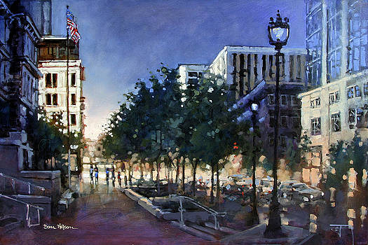 Raleigh Evening Light by Dan Nelson