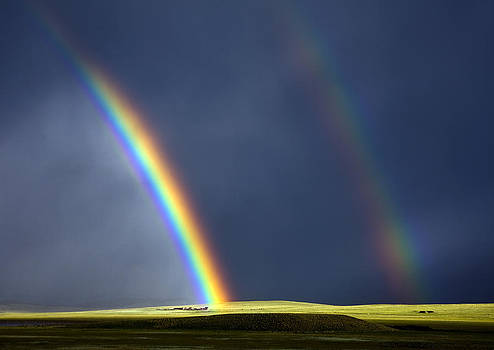 Ranch at the end of the rainbow. by Patrick Derickson