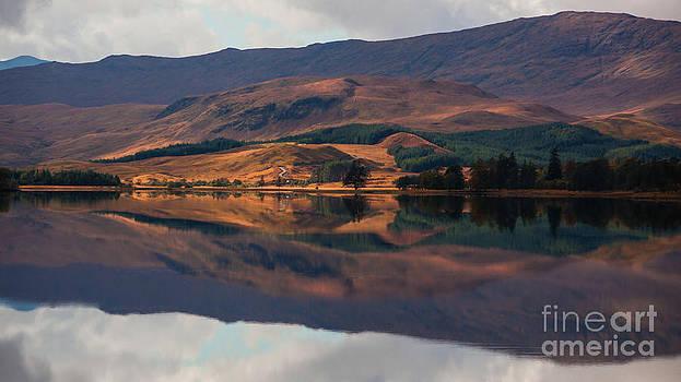 Rannoch Moor reflection by Gabor Pozsgai