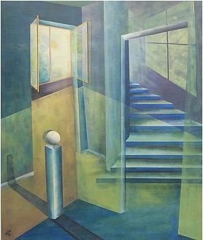 Raumirritation 08 by Gertrude Scheffler