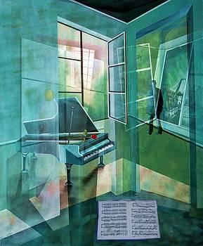 Raumirritation 15/1a by Gertrude Scheffler