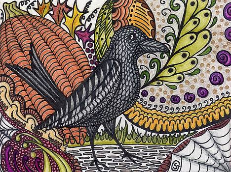 Raven - Inspecting the Harvest by Sherry Goeben