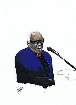 Ray Charles by Jerry Bates