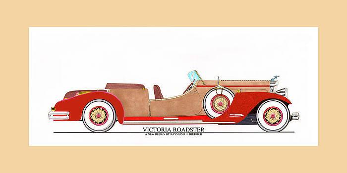 Jack Pumphrey - Ray Dietrich Packard Victoria Roadster concept design