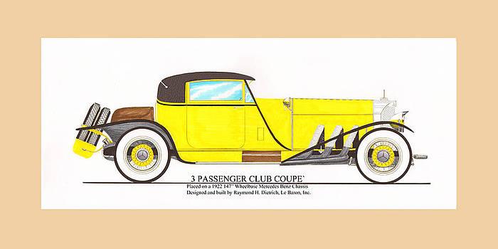 Jack Pumphrey - 1922 Mercedes Benz by Raymond Dietrich z