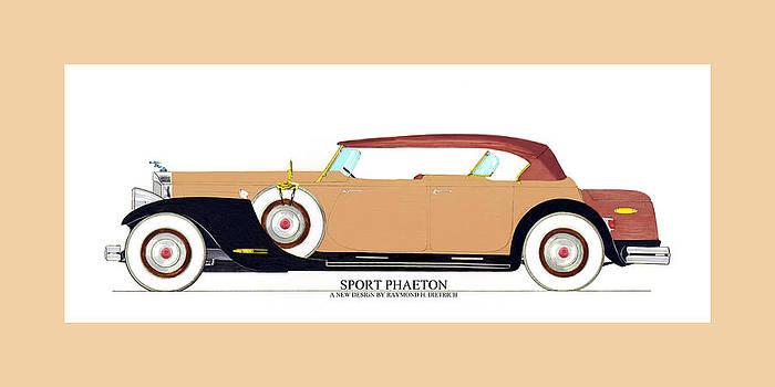 Jack Pumphrey - Raymond H Dietrich Packard Sport Phaeton Concept