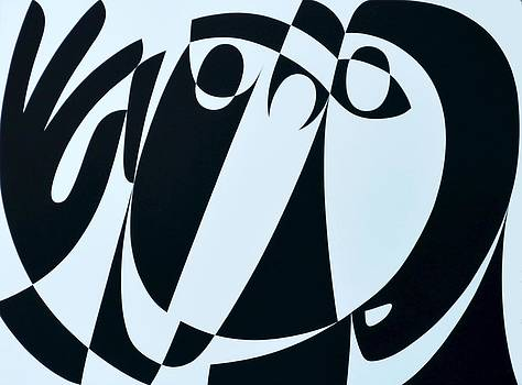 Ron Waddams - Receive As Truth, 1999 Acrylic On Board