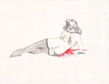 Reclining Nude No.09 by C E Dyer