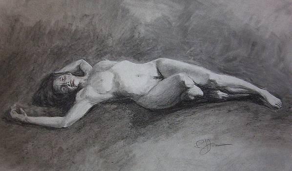 Reclining Nude by Rachel Hames