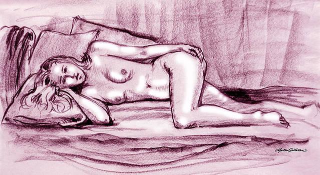 Reclining Nude Woman by Martin Sullivan