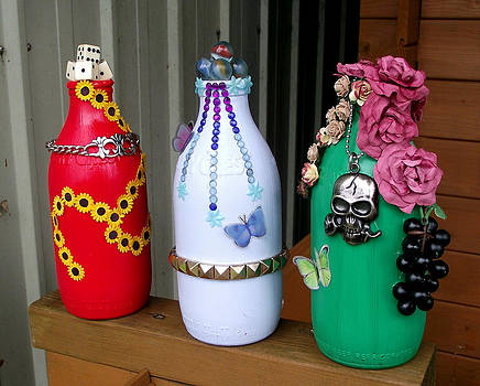 Recycled Milk Bottles by Sandy Wager