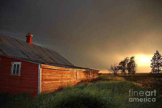 Jerry McElroy - Red Barn at Sundown