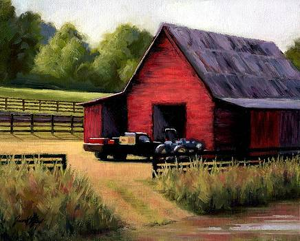Janet King - Red Barn in Leiper